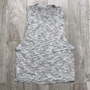 Lululemon Heathered White/Gray Muscle Tank!
